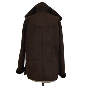 Portrait Jackets & Coats - Portrait Faux Shearling Brown Coat Hooded - PM